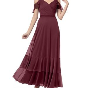 Azazie Cabernet Bridesmaid Dress